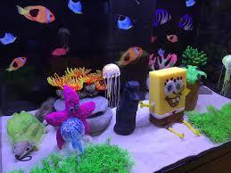Spongebob Aquarium Decor Set by The Attention To Detail In This Spongebob Aquarium Set Up At A Pet