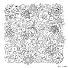 Imitation Of Hand Drawn Flower Doodle Texture Decorative Coloring Book