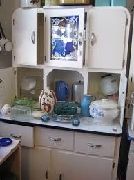 What Is A Hoosier Cabinet Worth by Furniture Charming Wooden Hoosier Cabinet In White And Red On
