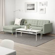 landskrona 3er sofa mit récamiere gunnared hellgrün holz