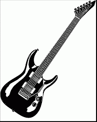 Superb Guitar Coloring Page Wecoloringpage With And Electric Pages