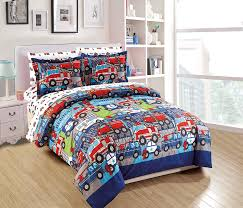 100 Fire Truck Bedding Amazoncom Fancy Linen 5pc Twin Comforter Set Police Car