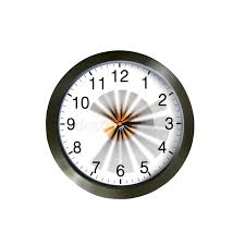Download Wall Clock With Moving Hands Stock Image