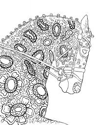 The Amazing World Horses Adult Coloring Book Pages Rocking Horse Printable Enchanted