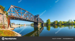 100 Magdeburg Water Bridge Old Town Railway Elbe River Downtown Autumn Sunny
