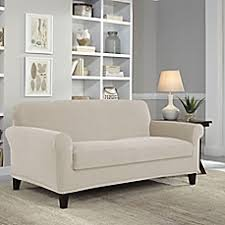 Bed Bath And Beyond Sure Fit Slipcovers by Loveseat Slipcovers Furniture Covers U0026 Throws Bed Bath U0026 Beyond