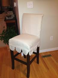 Old Parsons Bar Stools, With A Super Easy Slip Cover. I ... Ding Room Chairs Covers Dream Us 39 9 Top Grade How To Recover A Chair Hgtv Amazoncom Bed Bath Beyond Gold Floral Make Custom Slipcover College Dorm Registry Presidio Ding Chair Mullings Spindle Back