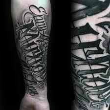 Modern Mens Lettering Name Tattoo On Forearm