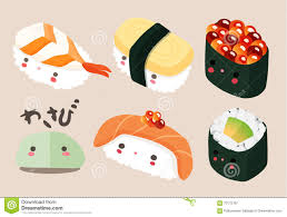 Japanese Food Illustration Sushi Vector Stock
