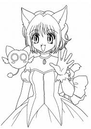 Anime Coloring Pages Printable Pertaining To