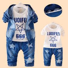 Girls Toddler Clothes Boys Set Spring Kids Outfits Hooded Jacket Jeans Tee 3PCS Baby