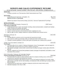 Waitress Resume Sample Examples Cocktail Free