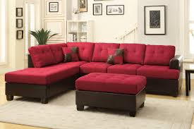 Microfiber Sofas And Sectionals by Red Leather Sectional Sofa And Ottoman Steal A Sofa Furniture