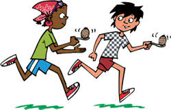 Egg And Spoon Race Clipart