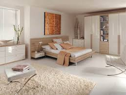 Fitted Portofino Bedroom In High Gloss White And Granadillo