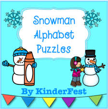 Snowman Match Puzzles Teaching Resources