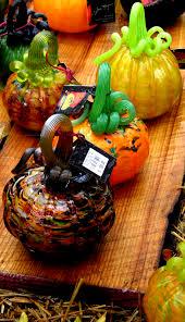 Glass Blown Pumpkins by Hand Blown Glass Pumpkins Artists Showing This Week At Morton