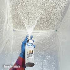 Skip Trowel Over Popcorn Ceiling by Patch A Water Stained Ceiling Or Textured Ceiling Family Handyman
