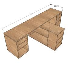 ana white eco modular office desktop made with purebond plywood