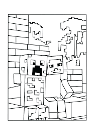 Collection Of Minecraft Coloring Pages Alex