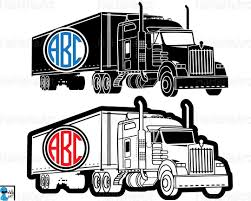 Circle Truck 18 Wheeler Clipart / Cutting File Svg Pdf Png | Etsy