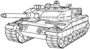Army Coloring Pages Military Tank