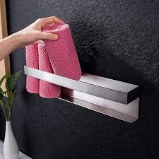vadooll gästehandtuchhalter selbstklebend handtuchhalter bad ohne bohren handtuchregal edelstahl gästetuchhalter 40cm