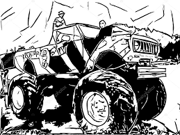100 Monster Truck Drawing Truck Drawing Stock Photo PandaWild 96347248