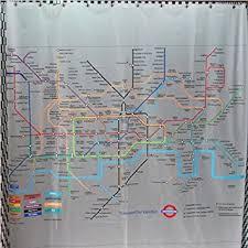 Tube Map Shower Curtain Amazon Kitchen & Home