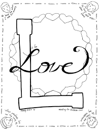 L Is For Love Coloring Page