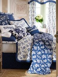 I Totally Adore Blue White Bedding Like This