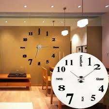 diy 3d wanduhr wohnzimmer modern design wandtattoo