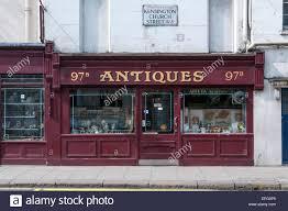 100 Kensington Church London An Antiques Shop In Street West Stock