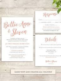 Calligraphy Font Wedding Invitation Printable