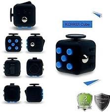 Kids Adult Toy Fidget Cube Stress Relieves Anxiety Attention Focus Black Blue