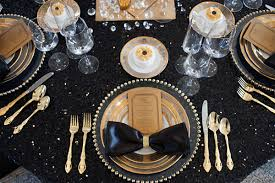 Silver Centerpieces For Table Black And Gold Wedding
