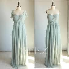 Cap Sleeve Bridesmaid Dresses Floor Length by 2015 Dusty Shale Bridesmaid Dress Removable Cap Sleeve Wedding