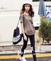 Korean College Style Vintage Slub Cotton Loose Basic T Shirt For Women New 2015 Summer High Street Fashion Casual O Neck In Shirts From Womens