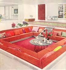 Killer Conversation Pit Spacious And A Hi Gloss White Floor Running Through The Whole House 2 Of My Favorite UPDATED INFO This Is