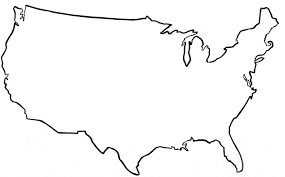 1024x635 United States Outline Map Olive Us Silhouette Png