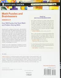 Halloween Brain Teasers Math by Math Puzzles And Brainteasers Grades 6 8 Over 300 Puzzles That