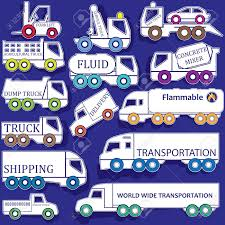 Icon Trucks In Various Forms. In Vector Format. Royalty Free ...