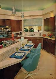 Futuristic Styling Of A 60s Kitchen