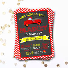 Printable Birthday Invitations Fire Truck | Download Them Or Print