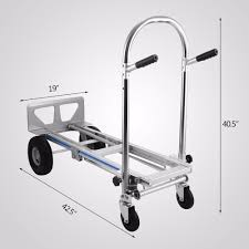 Vevor Aluminum Hand Truck 3-in-1 Folding Dolly Cart 1000lbs Capacity ...