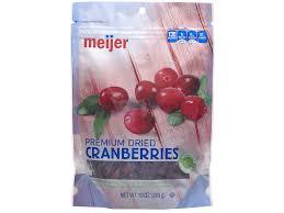 Meijer Artificial Christmas Trees by Meijer Premium Dried Cranberries 10 Oz Meijer Com