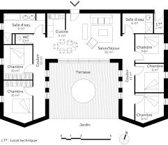 plan maison plain pied 3 chambres en l plan maison plain pied 3 chambres luxe cuisine modƒ les et plans de