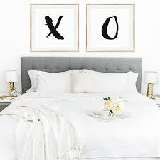 The Perfect Way To Decorate Above Your Bed X And O Prints Now
