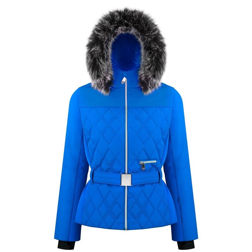 Poivre Blanc Women's Quilted Ski Jacket - S, True Blue