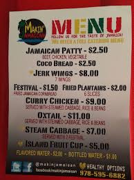 Food Truck Menu Design Boston Food Truck Makin' Jamaican | My ... How To Start A Food Truck Business Trucks Truck Review The New Chuck Wagon Fresh Fixins At Fort 19 Essential In Austin Bleu Garten Roxys Grilled Cheese Brick And Mortar Au Naturel Juice Smoothie Bar Menu Urbanspoonzomato Qa Chebogz Seattlefoodtruckcom To Write A Plan Top 30 Free Restaurant Psd Templates 2018 Colorlib Coits Home Oklahoma City Prices C3 Cafe Dream Our Carytown Burgers Fries Richmond Va
